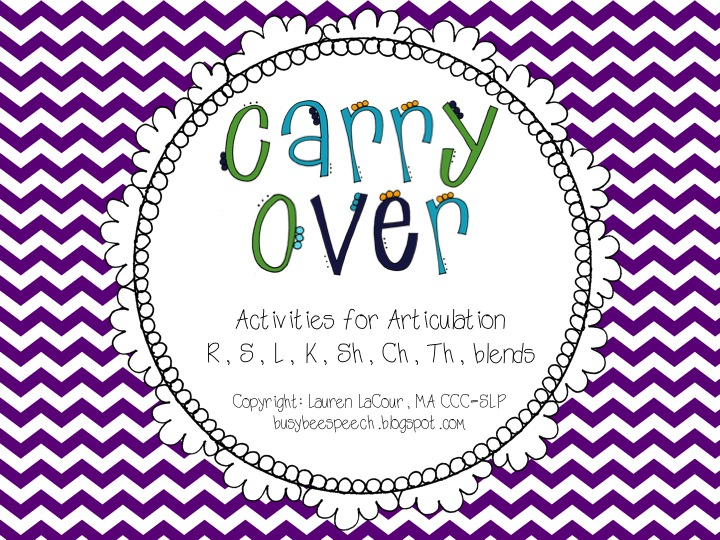 Articulation CarryOver Activities Busy Bee Speech – Articulation Worksheets