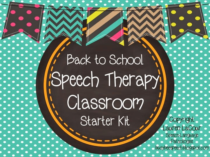 Speech Language Classroom Decorations ~ Back to school speech therapy classroom kit busy bee